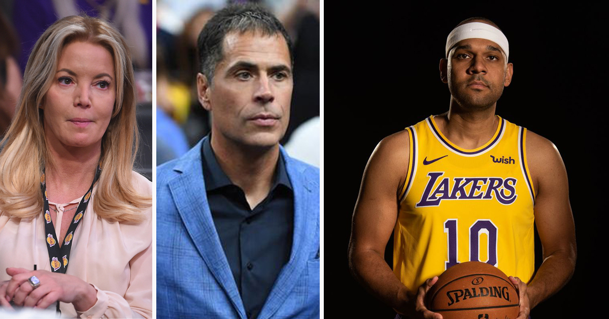 "Jeanie Buss to Pelinka: ""When I said we were 'too thin' at small forward, I didn't mean to sign Jared Dudley"""