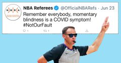 NBA referees remind public that momentary blindness is a COVID symptom