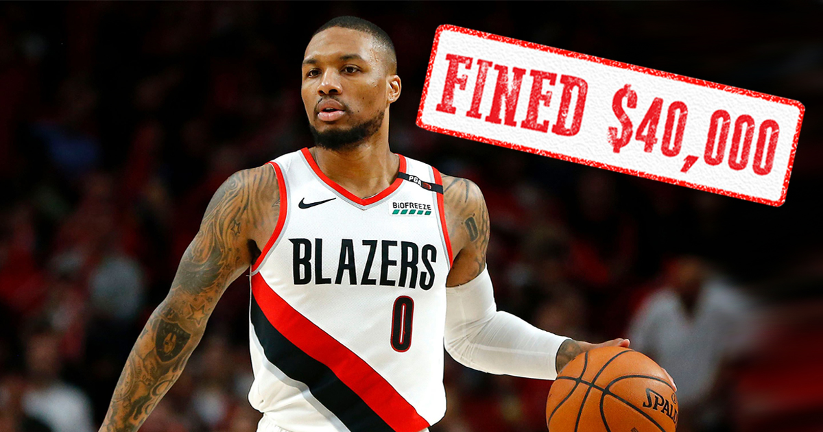 NBA fines Damian Lillard $40,000 for playing in Portland