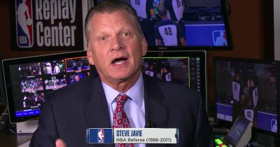 Steve Javie pops-in broadcast to remind viewers referees' perfect streak of correct calls continues