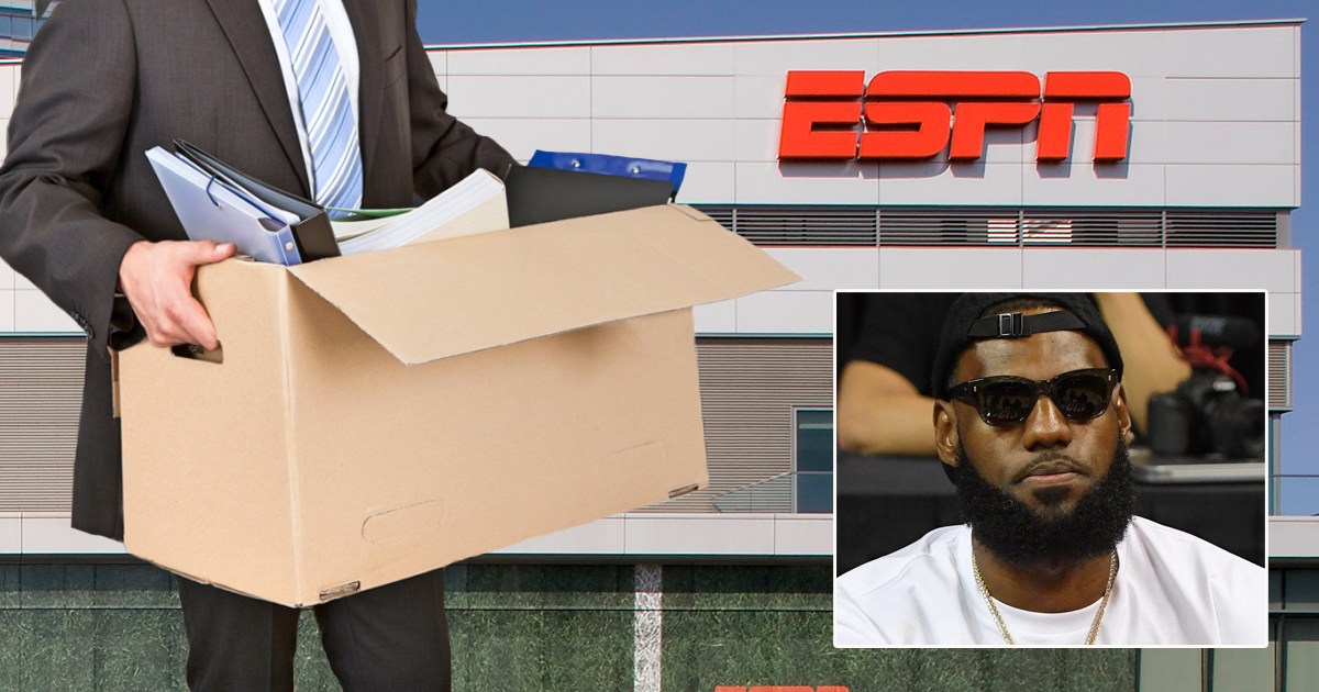 ESPN employee leaving building